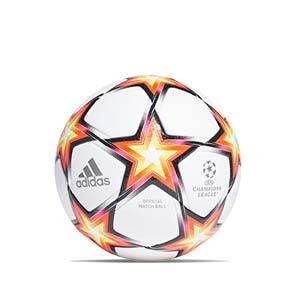 Balón adidas Finale 21 Pro FIFA talla 5 - Balón de fútbol adidas de la Final de la Champions 2021 2022 talla 5 - blanco y naranja