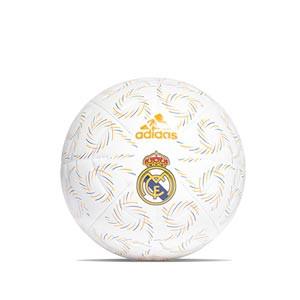 Balón adidas Real Madrid Club talla 5 - Balón de fútbol adidas del Real Madrid CF talla 5 - blanco