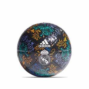 Balón adidas Real Madrid Club talla 5 - Balón de fútbol adidas del Real Madrid CF talla 5 - negro