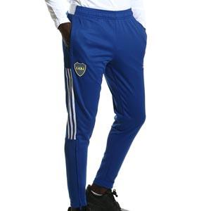 Pantalón adidas Boca Juniors entrenamiento - Pantalón largo de entrenamiento adidas del Boca Juniors - azul - completa frontal