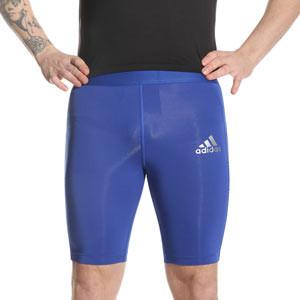 Mallas compresivas adidas Techfit - Mallas cortas compresivas entrenamiento fútbol adidas - azules