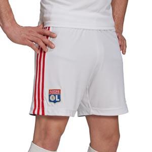 Short adidas Olympique Lyon 2021 2022 - Pantalón corto primera equipación Olympique de Lyon 2021 2022 - blanco
