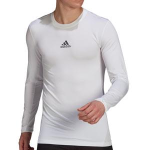 Camiseta adidas Techfit - Camiseta entrenamiento compresiva manga larga adidas Techfit - blanca