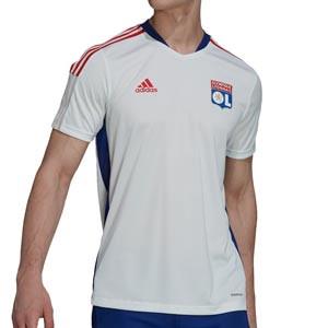 Camiseta adidas Olympique Lyon entrenamiento - Camiseta manga corta entrenamiento adidas Olympique de Lyon - blanca
