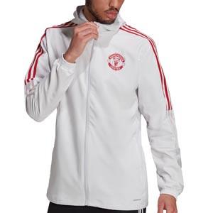 Chaqueta adidas United presentación - Chaqueta con capucha de presentación adidas Manchester United - gris