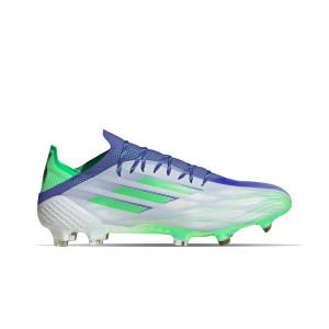 adidas X SPEEDFLOW.1 Adizero FG - Botas de fútbol adidas FG para césped natural o artificial de última generación - blancas, verdes