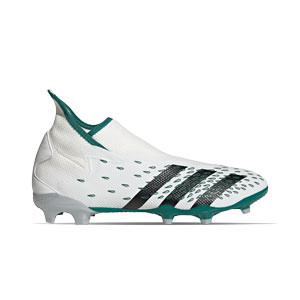 adidas Predator FREAK .3 LL FG - Botas de fútbol adidas con tobillera sin cordones FG para césped natural o artificial de última generación - blancas