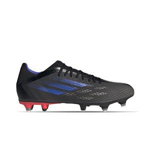 adidas X SPEEDFLOW.3 SG - Botas de fútbol adidas SG para césped natural blanco - negras