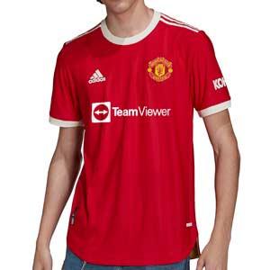 Camiseta adidas United authentic 2021 2022 - Camiseta auténtica primera equipación adidas del Manchester United 2021 2022 - roja