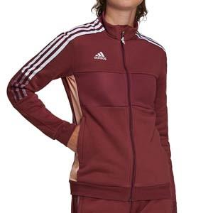 Chaqueta adidas mujer Tiro - Chaqueta de fútbol adidas mujer - granate