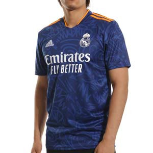 Camiseta adidas Real Madrid 2a 2021 2022 - Camiseta adidas segunda equipación Real Madrid CF 2021 2022 - azul