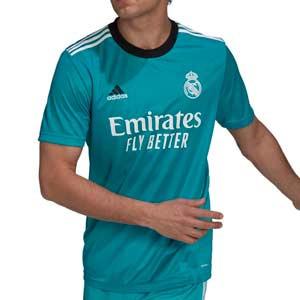 Camiseta adidas Real Madrid 3a 2021 2022 - Camiseta adidas tercera equipación Real Madrid CF 2021 2022 - verde turquesa