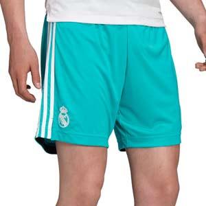 Short adidas Real Madrid 3a 2021 2022 - Pantalón corto tercera equipación adidas del Real Madrid CF 2021 2022 - verde turquesa