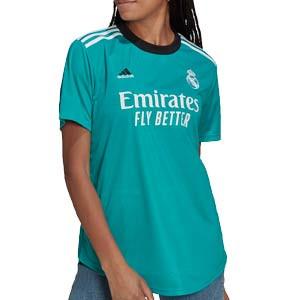 Camiseta adidas Real Madrid 3a mujer 2021 2022 - Camiseta tercera equipación para mujer adidas del Real Madrid CF 2021 2022 - verde turquesa