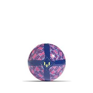Balón adidas Messi talla mini - Balón de fútbol adidas talla mini - azul marino, rosa