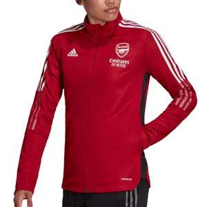 Chaqueta adidas Arsenal mujer - Chaqueta de chándal para mujer adidas del Arsenal FC - roja