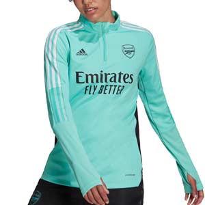 Sudadera adidas Arsenal entreno mujer 2021 2022 - Sudadera de entrenamiento de mujer adidas del Arsenal FC 2021 2022 - verde menta