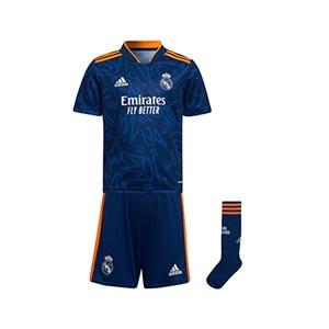 Equipación adidas 2a Real Madrid niño pequeño 2021 2022