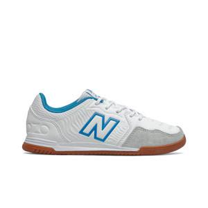 New Balance Audazo v5+ Command jr IN - Zapatillas de fútbol sala infantiles New Balance suela lisa IN - blancas