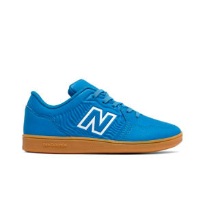 New Balance Audazo v5+ Control jr IN - Zapatillas de fútbol sala infantiles New Balance suela lisa IN - azules celeste