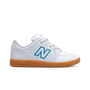New Balance Audazo v5+ Control jr IN - Zapatillas de fútbol sala infantiles New Balance suela lisa IN - blancas
