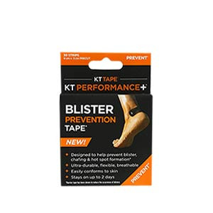 Cinta anti rozaduras KT Tape Performance+ precortada - Tiras adhesivas anti ampollas KT Tape (9 cm x 3 cm) - negra - frontal