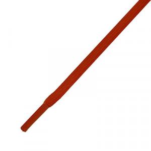 Cordones planos y finos futbolmania - Cordones para botas fútbol (120 cm de largo x 5 mm de ancho) - rojos - frontal