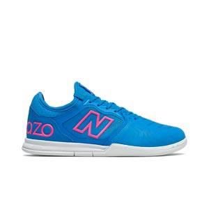 New Balance Audazo v5+ Pro IN - Zapatillas de fútbol sala New Balance suela lisa IN - azules celeste