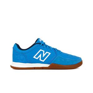 New Balance Audazo v5+ Command IN - Zapatillas de fútbol sala New Balance suela lisa IN - azules celeste