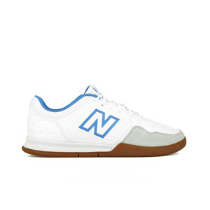 New Balance Audazo v5+ Command IN - Zapatillas de fútbol sala New Balance suela lisa IN - blancas