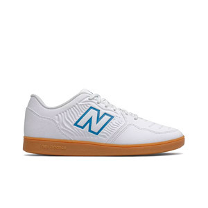 New Balance Audazo v5+ Control IN - Zapatillas de fútbol sala infantiles New Balance suela lisa IN - blancas
