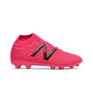New Balance Tekela v3+ Magique AG - Botas de fútbol con tobillera New Balance AG para césped artificial - rosas rojizas