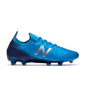 New Balance Tekela 2 Pro FG - Botas de fútbol New Balance FG para césped natural o artificial de última generación - azules - pie derecho