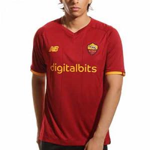 Camiseta New Balance AS Roma 2021 2022 - Camiseta primera equipación New Balance AS Roma 2021 2022 - granate