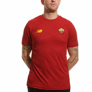 Camiseta New Balance AS Roma pre-match - Camiseta calentamiento pre partido New Balance AS Roma - granate
