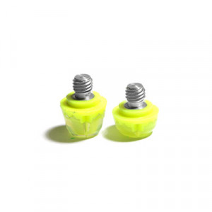 2x tacos goma TPU botas fútbol adidas Studiamonds amarillo - 2 uds. tacos recambiables de plástico TPU de 1x6mm posición delantera y 1x9mm posición trasera para botas de fútbol adidas (excepto World Cup y Kaiser) - amarillo flúor