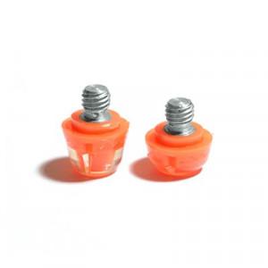 2x tacos goma TPU botas fútbol adidas Studiamonds naranja - 2 uds. tacos recambiables de plástico TPU de 1x6mm posición delantera y 1x9mm posición trasera para botas de fútbol adidas (excepto World Cup y Kaiser) - naranja flúor