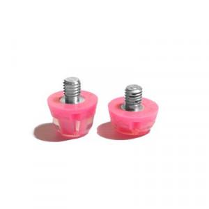 2x tacos goma TPU botas fútbol estándar Studiamonds rosa - 2 uds. tacos recambiables de plástico TPU de 1x6mm posición delantera y 1x9mm posición trasera para botas de fútbol con métrica estándar (Nike, Puma, New Balance,...) - rosa flúor
