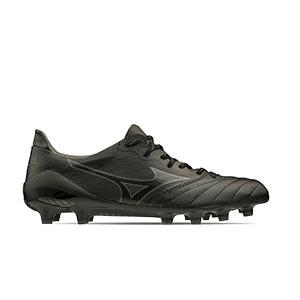 Mizuno Morelia Neo 2 Beta MD - Botas de fútbol de piel de canguro Mizuno MD para césped natural o artificial de última generación - negras - pie derecho