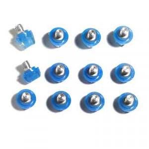 12x tacos goma TPU botas fútbol adidas Studiamonds azul - 12 uds. tacos recambiables de plástico TPU de 8x6mm posición delantera y 4x9mm posición trasera para botas de fútbol adidas (excepto World Cup y Kaiser) - azul traslúcido
