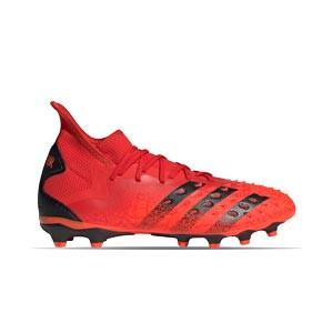 adidas Predator FREAK .2 MG - Botas de fútbol con tobillera adidas MG para césped artificial - rojas