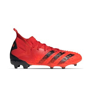 adidas Predator FREAK .2 FG - Botas de fútbol con tobillera adidas FG para césped natural o artificial de última generación - rojas
