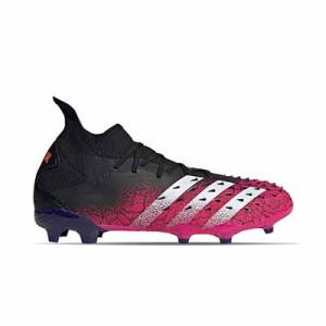 adidas Predator FREAK .2 FG - Botas de fútbol con tobillera adidas FG para césped natural o artificial de última generación - rosas y negras - pie derecho