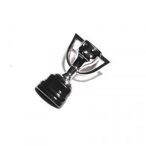 Pin RFEF Copa de LaLiga 30 mm - Pin del trofeo de LaLiga metálico de 30 mm - plateado