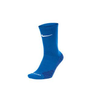 Calcetines media caña Nike Squad - Calcetines media caña para entrenamiento fútbol Nike - azules - frontal