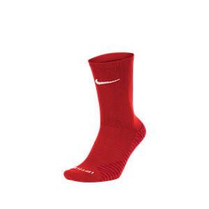 Calcetines media caña Nike Squad - Calcetines media caña para entrenamiento fútbol Nike - rojos - frontal