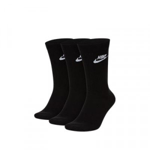 Calcetines media caña Nike Everyday Essential 3 pares - Pack de 3 calcetines Nike de media caña - negros - trasera