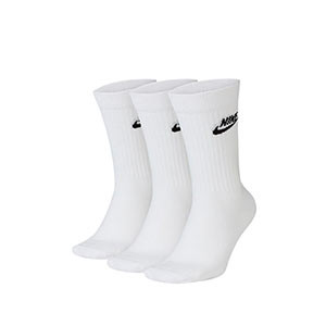 Calcetines media caña Nike Everyday Essential pack 3 - Pack de 3 calcetines Nike de media caña - blancos - frontal