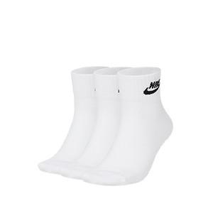 Calcetines Nike Everyday Essential 3 pares acolchados - Pack de 3 calcetines tobilleros acolchados Nike - blancos