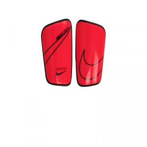 Nike Mercurial Hard Shell - Espinilleras de fútbol Nike con cintas de velcro - rosas - frontal